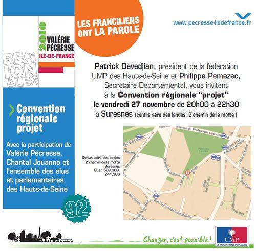 Convention régionale projet Suresnes - 27 nevembre 2009