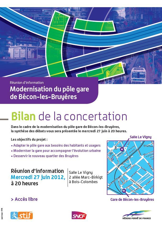 Réunion publique gare de bécon 27 juin 2012