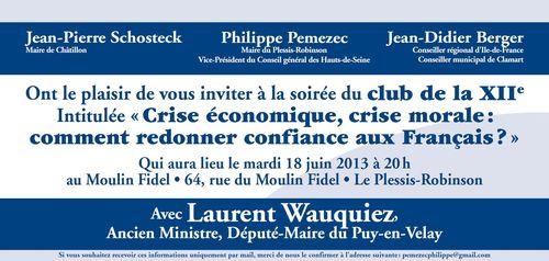 Invitation Droite Sociale - 18-06-2013 au Plessis-Robinson