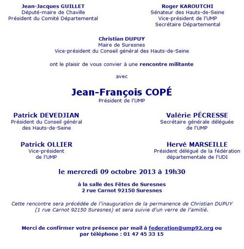 JF Copé Suresnes - 09-10-2013