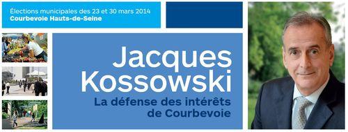 Bandeau Jacques Kossowski  Courbevoie municipales 2014