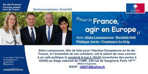 Invitation Café politique au siège de l'UMP vendredi 9 mai à 10h30