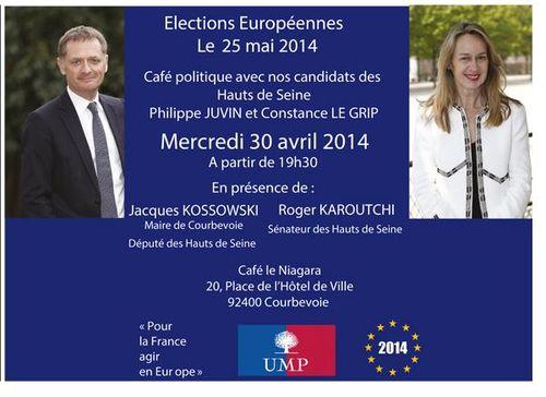 Invit Café politique élections européennes Courbevoie 30 avril 2014