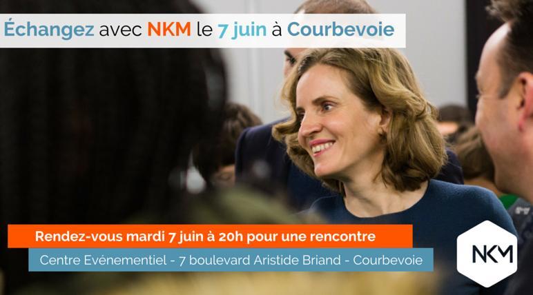 Invitation NKM Courbevoie - Mardi 7 juin 20h