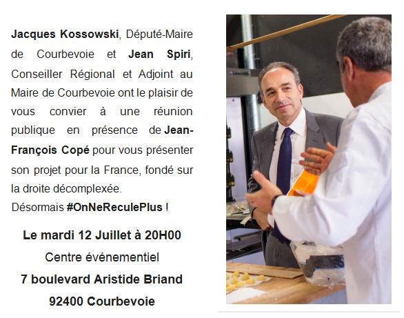 Invitation JFCopé à Courbevoie- Mardi 12 juillet 20h