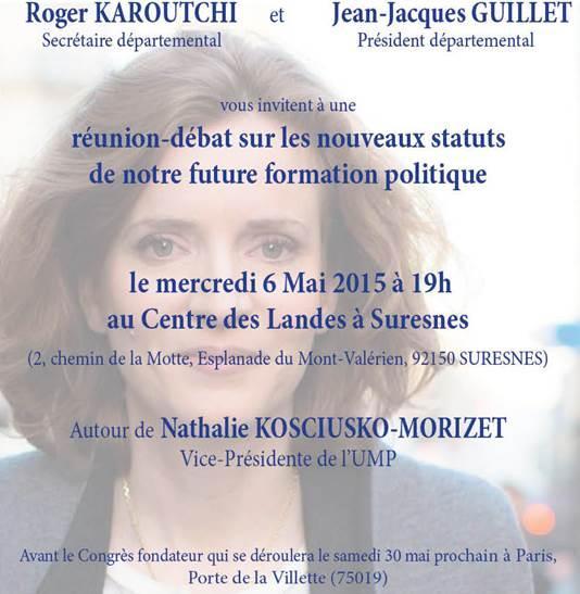 Réunion-débat Nathalie Kosciusko-Morizet 6 mai 2015 Suresnes