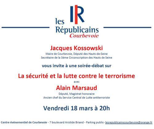 Invitation débat Alain Marsaud - vendredi 18 mars