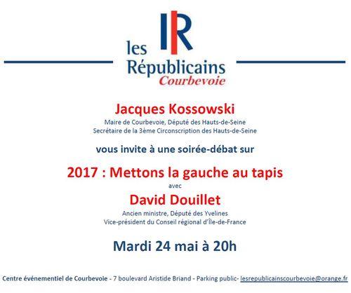 Invitation débat David Douillet - Mardi 24 mai 2016