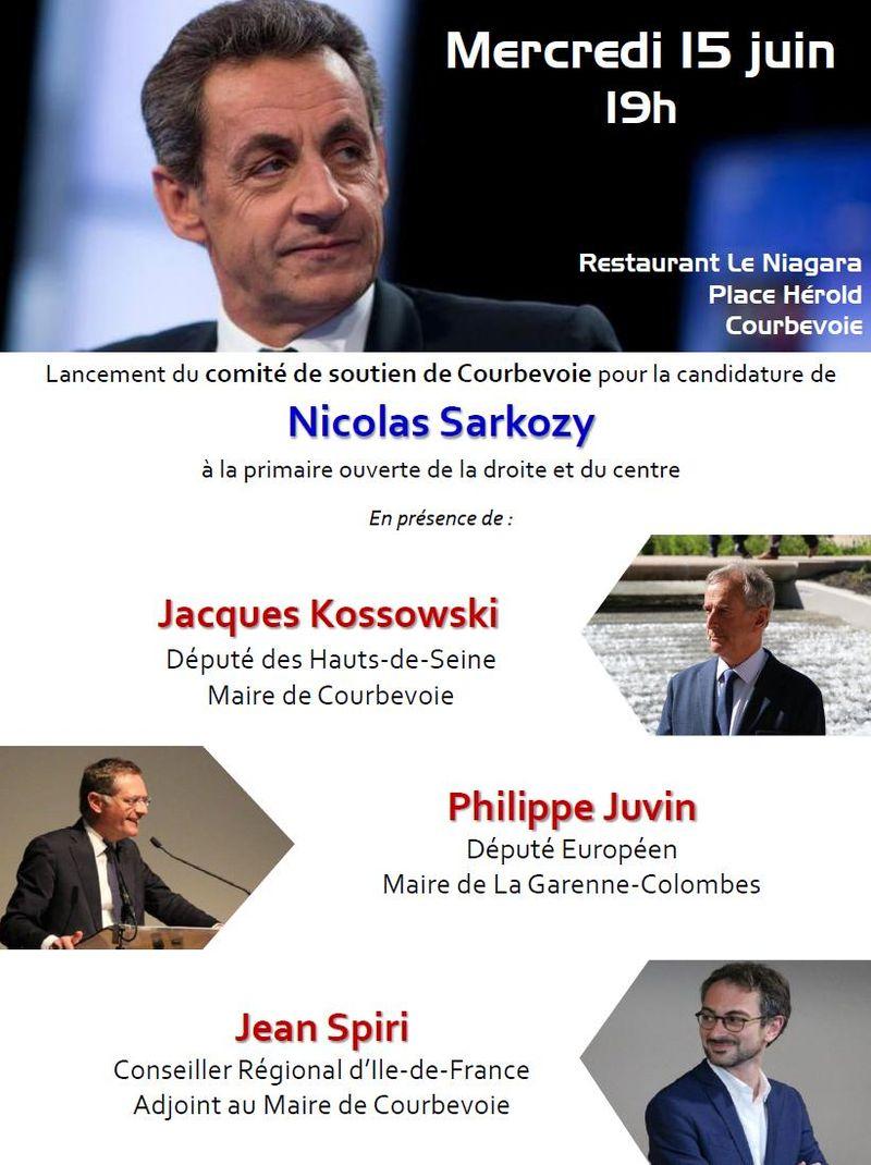 Invitation au lancement du Comité de soutien à Nicolas Sarkozy - Mercredi 15 juin à 19h