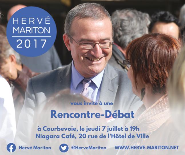 Invitation Hervé Mariton à Courbevoie - Jeudi 7 juillet à 19h30