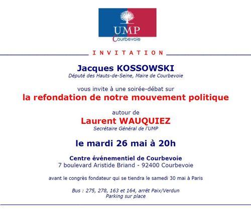 Invitation Laurent Wauquiez Courbevoie - mardi 26 mai 2015