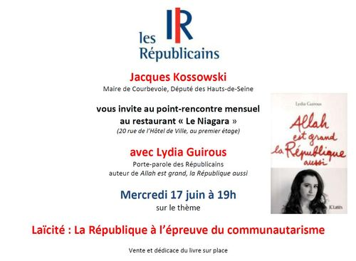 Invitation Lydia Guirous Courbevoie 17-06-2015