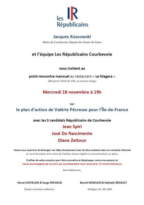 Invitation point-rencontre Les Républicains Courbevoie 18-11-2015