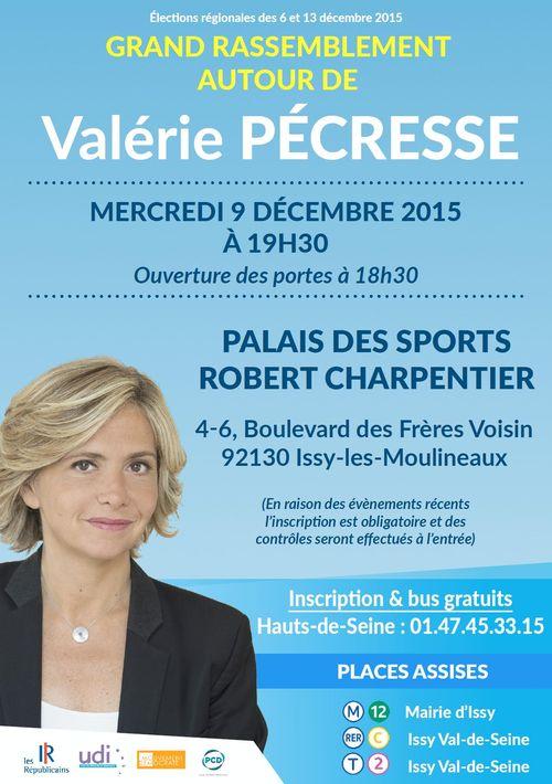 Meeting Régionales Pécresse Issy les Moulineaux 9 décembre 2015