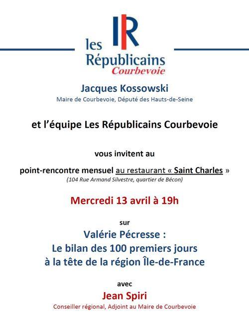 Invitation point-rencontre Les Républicains Courbevoie - 13-04-2016
