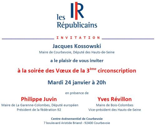 Invitation Voeux Les Républicains 3ème circonscription - 24-01-2017 v2