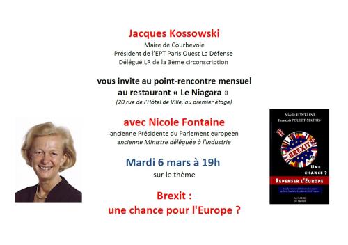 Invitation Nicole Fontaine Courbevoie 06-03-2018