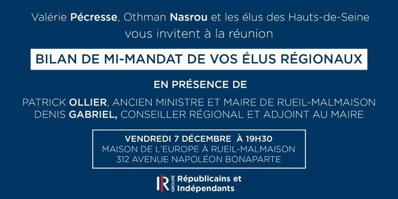Bilan de mi-mandat de vos élus régionaux - 07-12-2018