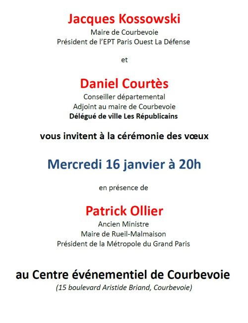 Invitation - Voeux 2019 - 16-01-2019