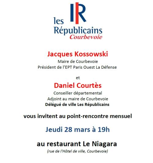 Invitation point-rencontre Les Républicains Courbevoie - 28-03-2019