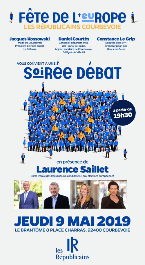 Soirée débat avec Laurence Saillet - Jeudi 9 mai 19h30