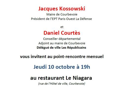 Invitation point-rencontre Les Républicains Courbevoie - 10-10-2019