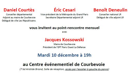Invitation point-rencontre Les Républicains Courbevoie - 10-12-2019